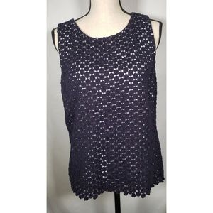 Karl Lagerfeld Sleeveless Embroidered Blouse 12